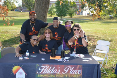 Hilda's Place staffs having an event